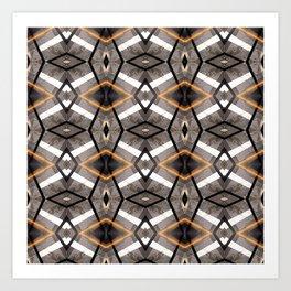 Geometric Light and Mesh Art Print
