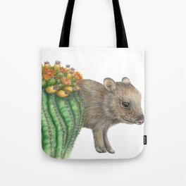 Javelina and Barrel Cactus Tote Bag