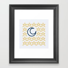 [ STAR | MOON ] - Magic collection - Midnight Framed Art Print