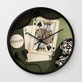 Poker Night Essentials Wall Clock