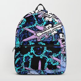 GRAPHIC WINTER SNOWFLAKE PEN & INK DRAWING Backpack