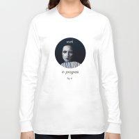 musa Long Sleeve T-shirts featuring Work in progress by e. - MusA by Michela Ezekiela Riba