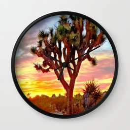 Vivid Daydream in Joshua Tree Wall Clock