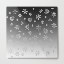 Snow Flurries Metal Print