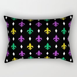 Mardi Gras Pattern | Funny Carnival Graphic Rectangular Pillow