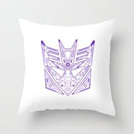 Decepticon Tech Purple Throw Pillow
