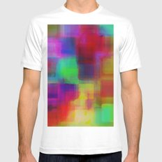 Bright#1 White MEDIUM Mens Fitted Tee