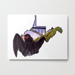 Wild and Wonderful Mothman Metal Print