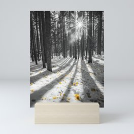 WINTER LEAVES ROCKY MOUNTAIN NATIONAL PARK COLORADO Mini Art Print