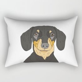 Dachshund Puppy Rectangular Pillow