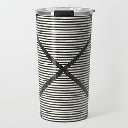 Chisel In Black & White Travel Mug