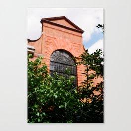 Brick and leaf Canvas Print