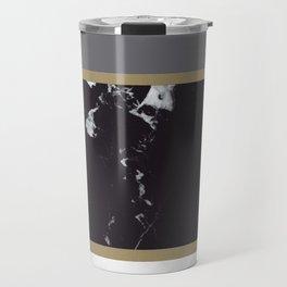 Marble Mix Stripes #1 #black #white #gray #gold #decor #art #society6 Travel Mug