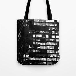 Black & White-Skyscraper Tote Bag