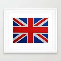union jack Framed Art Prints featuring Union Jack by GoldTarget