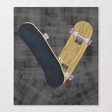 V for skateboard Canvas Print