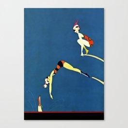 """Diving Board"" by Annie Fish Canvas Print"