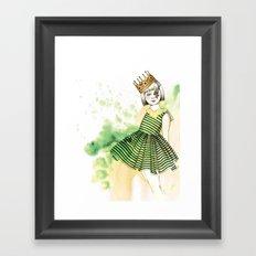 Little Queen Framed Art Print