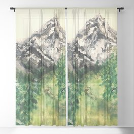 Storybook Mountains Sheer Curtain