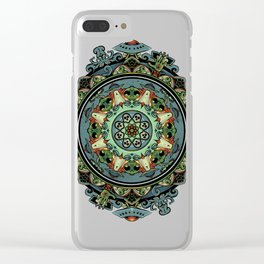Extraterrestrial Mandala Clear iPhone Case