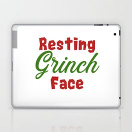 Resting Grinch Face - Christmas Xmas festive design Laptop & iPad Skin