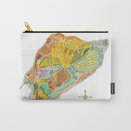 Mackincac Island Illustrated Map Carry-All Pouch