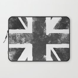 UK flag Grunge Black Laptop Sleeve