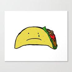 Sad Taco Canvas Print