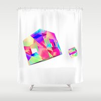 games Shower Curtains featuring GAMES by DIZYGOTIK