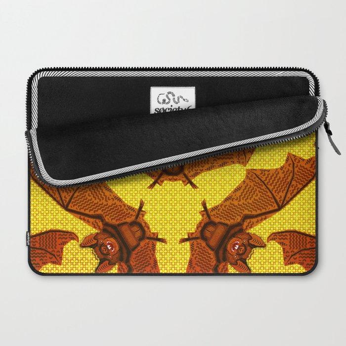 Geometric Bat Pattern - Golden version Laptop Sleeve