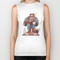 bigfoot Biker Tanks featuring Bigfoot Lebowski by Eli Wolff