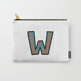 Uppercase Letter W Carry-All Pouch