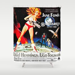Go Barbarella! Shower Curtain