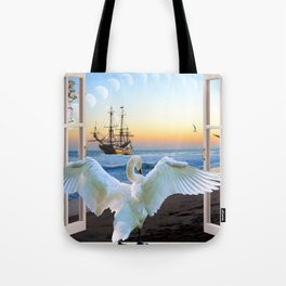 In the sunset beach c Tote Bag