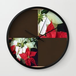 Mixed Color Poinsettias 2 Blank Q3F0 Wall Clock