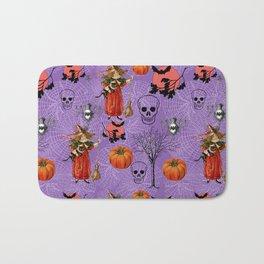 Vintage Halloween Pattern Bath Mat
