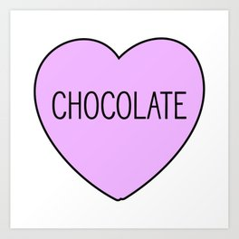Chocolate Heart Art Print