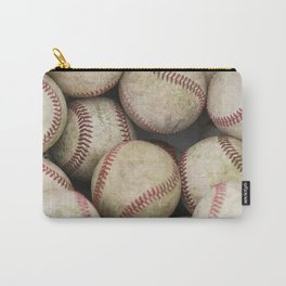 Many Baseballs - Background pattern Sports Illustration Carry-All Pouch