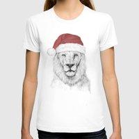 santa T-shirts featuring Santa lion by Balazs Solti