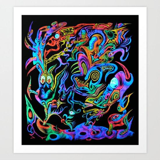 Intergalactic Fool Art Print