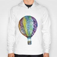 hot air balloon Hoodies featuring Hot Air Balloon by Emily Stalley