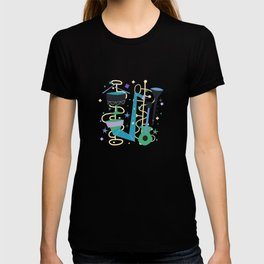 Midcentury Modern Fifties Jazz Composition T-shirt