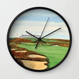 Shinnecock Hills Golf Course With Clubhouse Wall Clock