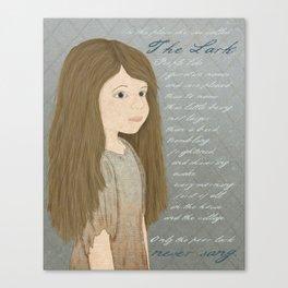 Portrait of Cosette from Les Misérables Canvas Print