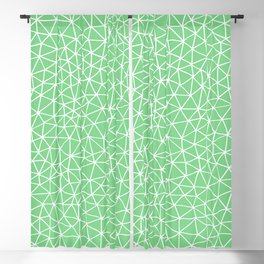 Connectivity - White on Mint Green Blackout Curtain