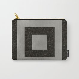Silver Squares Carry-All Pouch