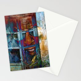 Walking through walls Stationery Cards