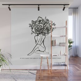 Love yourself first Wall Mural