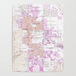 Vintage Map of Palm Springs California (1957) 2 Poster