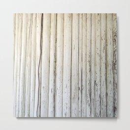 Wire on Wood Metal Print